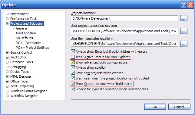 Visual Studio Preferences